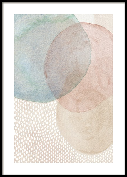Sheer Shapes No2 Poster in the group Prints / Art prints / Abstract art prints at Desenio AB (14430)