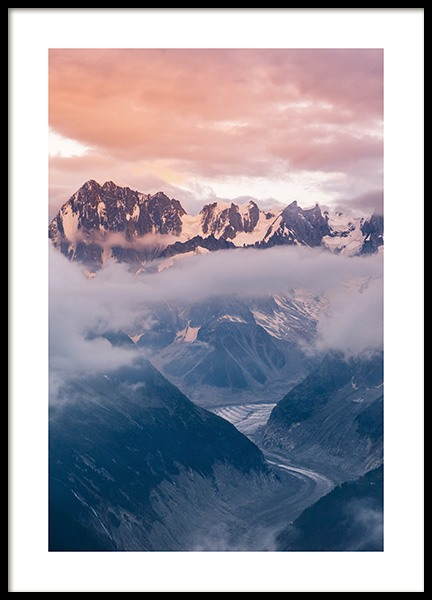 Cloudy Sunset Poster in the group Prints / Nature prints / Mountains at Desenio AB (14439)
