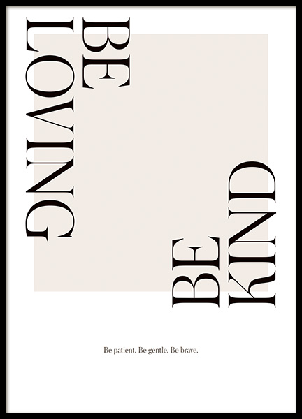 Be Loving Poster in the group Prints / Text posters / Typography at Desenio AB (14455)