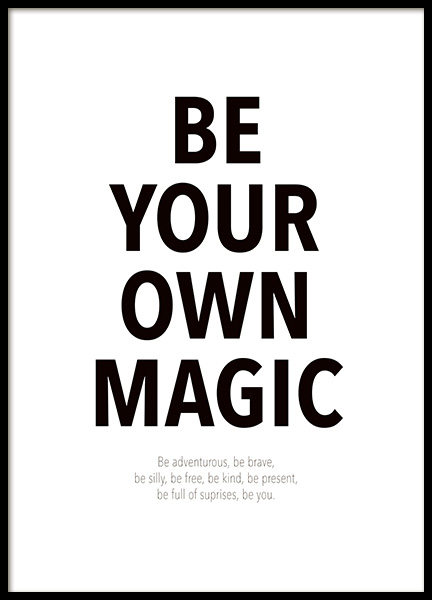 Your Own Magic Poster in the group Prints / Text posters / Motivational at Desenio AB (14458)