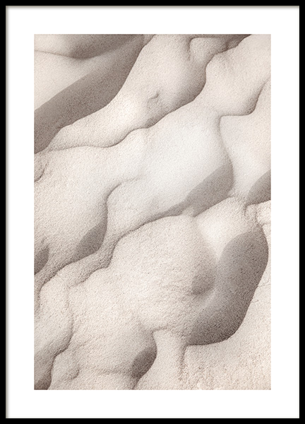 Sand Shapes Poster in the group Prints / Nature prints at Desenio AB (14502)