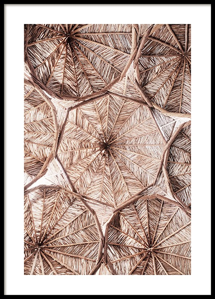 Organic Roof Pattern Poster in the group Prints / Photographs at Desenio AB (14507)