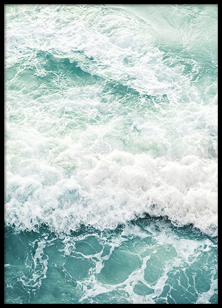 Foamy Ocean Poster in the group Prints / Studio Collections / Studio Azur at Desenio AB (14520)