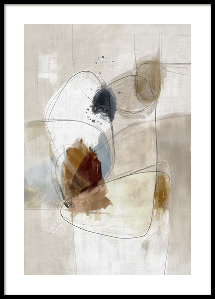 Beige Impression No2 Poster in the group Prints / Art prints / Abstract art prints at Desenio AB (14538)