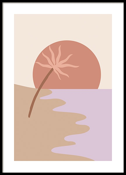 Palm by the Bay Poster in the group Prints / Graphical at Desenio AB (14565)