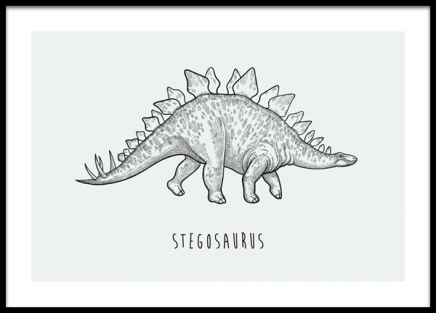 Stegosaurus Poster in the group Prints / Kids wall art / Animal illustrations at Desenio AB (14584)
