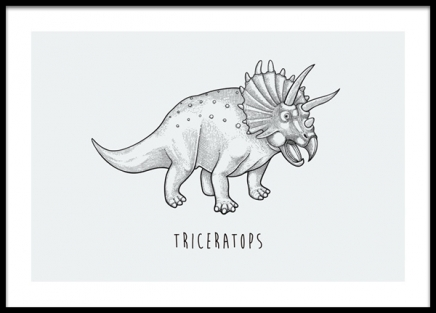 Triceratops Poster in the group Prints / Kids wall art / Animal illustrations at Desenio AB (14585)