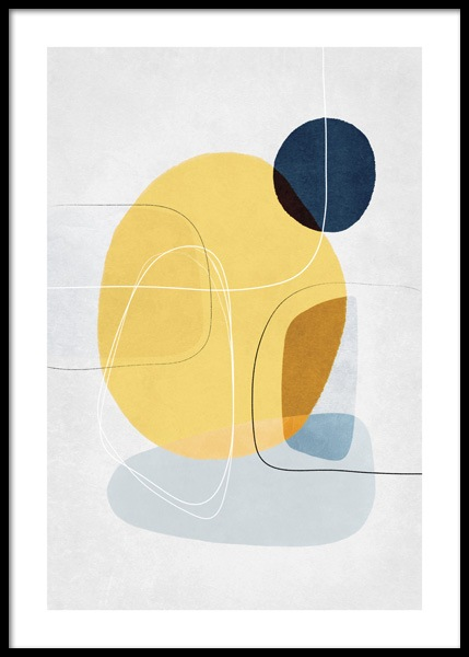 Contemporary Yellow No1 Poster in the group Prints / Art prints at Desenio AB (14651)