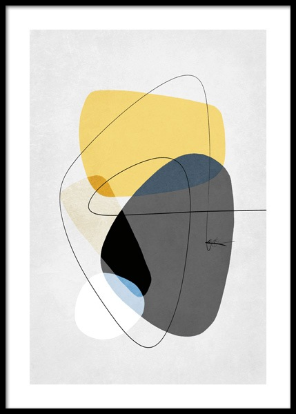 Contemporary Yellow No2 Poster in the group Prints / Art prints at Desenio AB (14652)