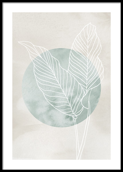 Calathea Line Drawing Poster in the group Prints / Art prints at Desenio AB (14660)