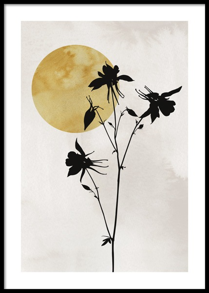 Flower Silhouette Poster in the group Prints / Art prints at Desenio AB (14664)