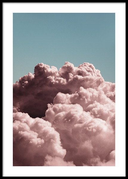 Dreamy Clouds Pink Poster in the group Prints / Photographs at Desenio AB (14685)