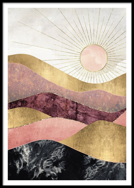 Blush Sun Poster in the group Prints / Illustrations at Desenio AB (14741)