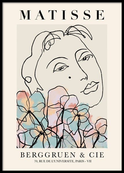 Matisse Inspired Floral Poster in the group Prints / Art prints at Desenio AB (14748)