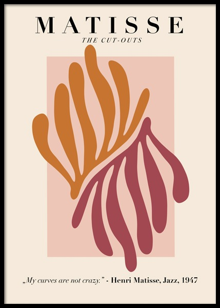 Matisse Inspired Leaves Poster in the group Prints / Art prints at Desenio AB (14752)
