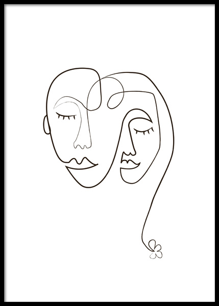 Face To Face Poster in the group Prints / Art prints / Line Art at Desenio AB (14761)