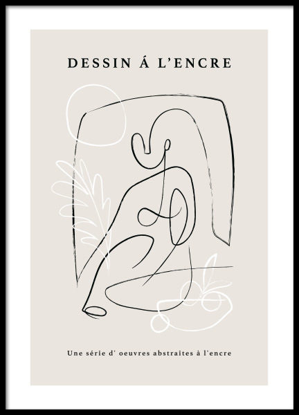 French Sketch No2 Poster in the group Prints / Art prints / Line Art at Desenio AB (14766)