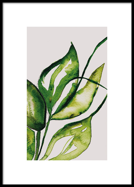 Lush Watercolor No1 Poster in the group Prints / Botanical at Desenio AB (14787)