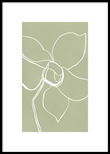 Plant Outlines No2 Poster in the group Prints / Botanical at Desenio AB (14792)