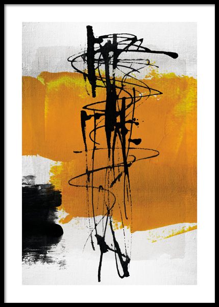 Yellow Abstract No1 Poster in the group Prints / Art prints / Abstract art prints at Desenio AB (14801)
