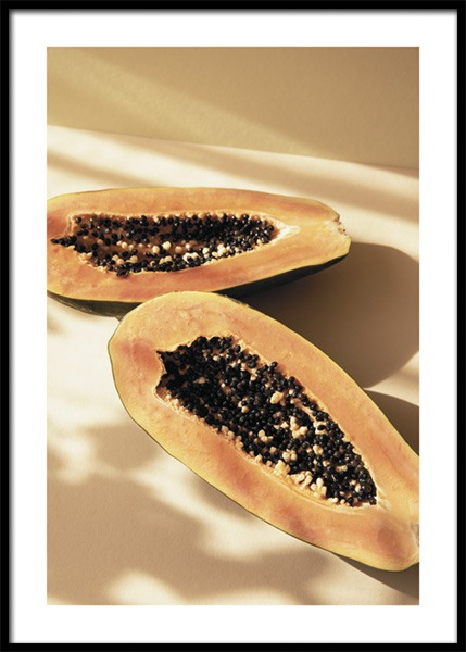 Papayas In The Sun Poster in the group Prints / Kitchen / Fruit & vegetables at Desenio AB (14858)