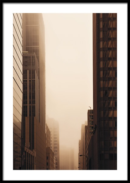 Brown Skyscrapers Poster in the group Prints / Photographs at Desenio AB (14903)