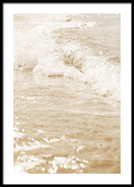Beige Sea Poster in the group Prints / Nature prints / Seas & oceans at Desenio AB (15002)