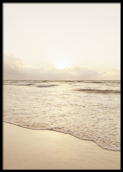Golden Hour Beach Poster in the group Prints / Nature prints / Seas & oceans at Desenio AB (15003)