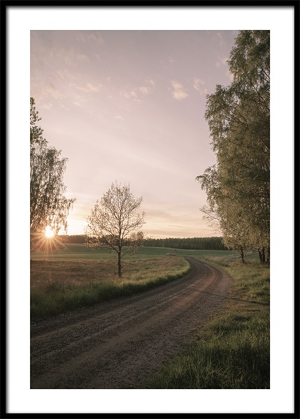 Sunset Road Poster in the group Prints / Photographs at Desenio AB (15034)