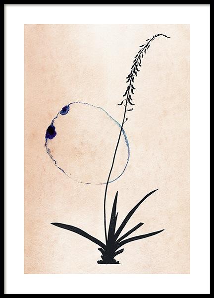 Blossom Outline No2 Poster