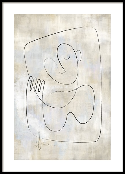 Abstract and Lines No2 Poster