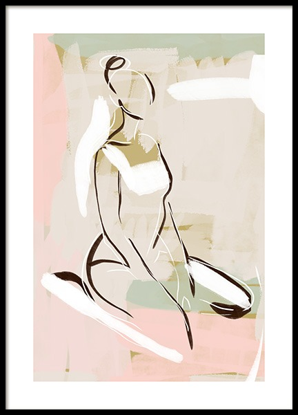 Pastel Figure No1 Poster