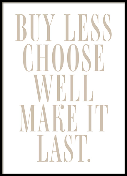 Choose Well Poster
