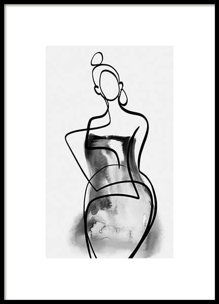 Watercolor Gown No2 Poster