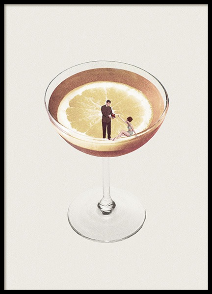 Lemon Cocktail Poster