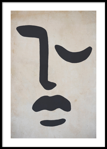 Stone Faced Poster