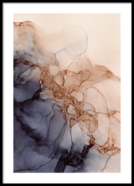 Liquid Formations No1 Poster