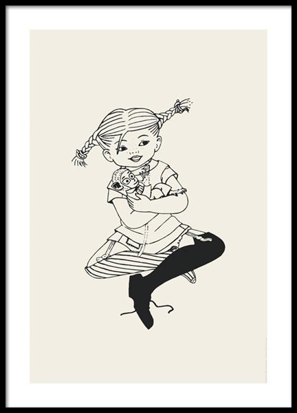 Pippi Longstocking No2 Poster