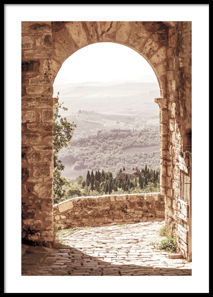 Tuscan Arch Poster