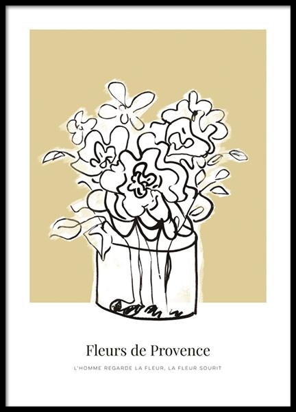 Fleurs de Provence No1 Poster