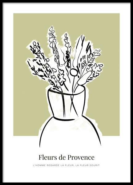 Fleurs de Provence No2 Poster