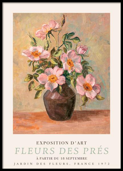 Fleurs des prés Poster