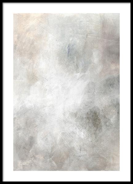 Soft Tones Abstract No1 Poster