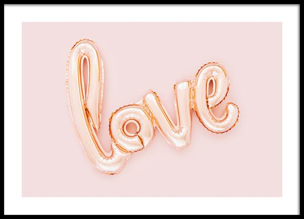 Love Balloon Poster