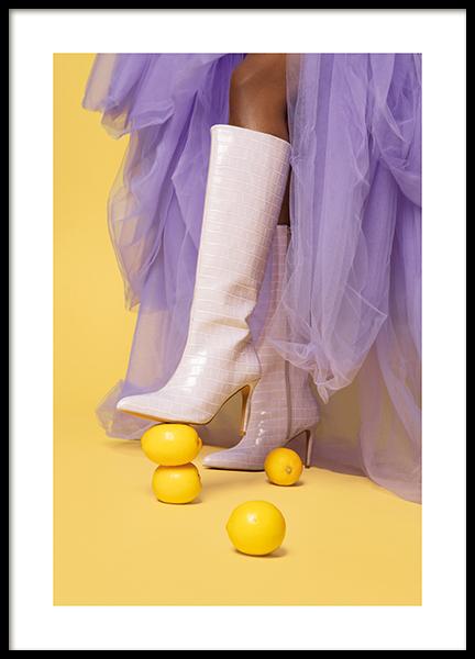 Boots on Lemons Poster