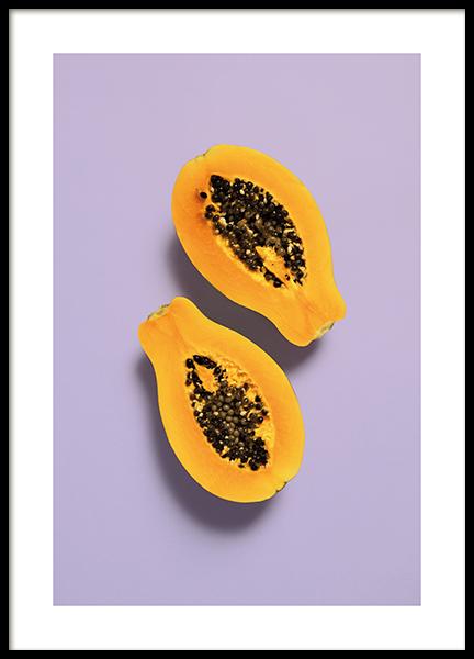 Purple Papaya Poster