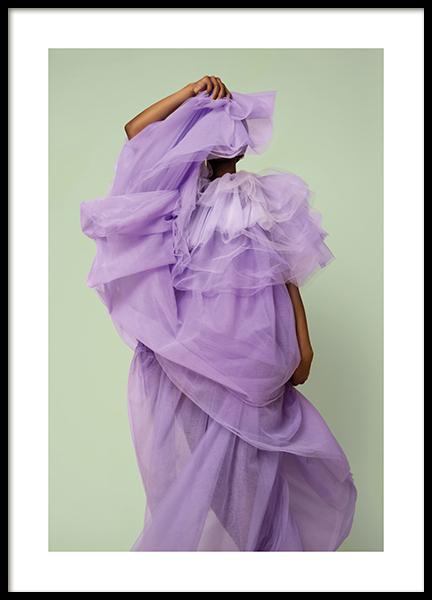 Woman in Purple Poster