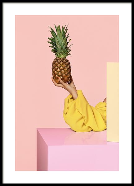 Pineapple in Focus Poster