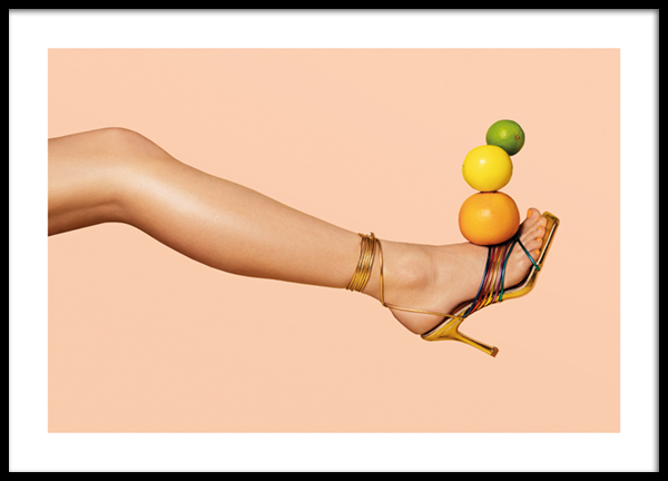 Balanced Citrus Fruits Poster