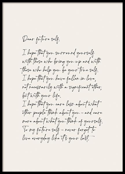 Dear Future Self Poster
